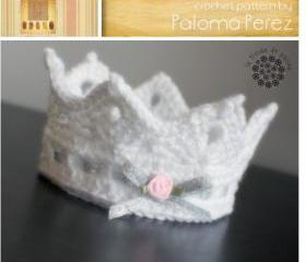 Crochet Baby Crown pattern - Ariel Crown pattern - Photoprop crochet pattern